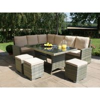 Maze Rattan Tuscany Corner Group - Light Brown