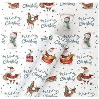4m Cute Santa - Merry Christmas Wrapping Paper