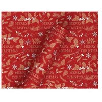 3m Kraft Red Merry Christmas Wrapping Paper