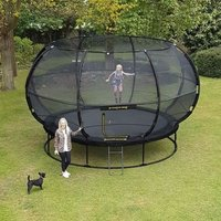 Jumpking Zorbpod Round 12ft Trampoline Safety Net & Pad
