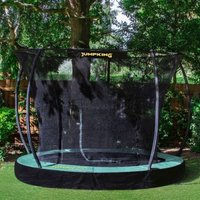 Jumpking Deluxe Round 14ft Trampoline Safety Net & Pad
