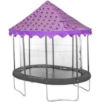 Jumpking Oval 7 X 10ft Trampoline Tent Canopy Butterfly