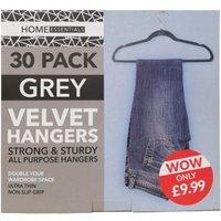 Velvet Hangers 30 Pack - Grey
