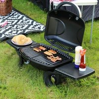 Charles Bentley Portable Gas BBQ - Black