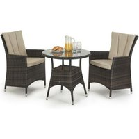 LA 2 Seat Garden Bistro Set Brown