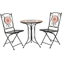 2 Seater Terracotta Mosaic 3 Piece Garden Bistro Set