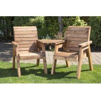 2 Seat Tete-a-tete Companion Love Seat Scandinavian Redwood Garden Set