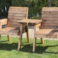 2 Seat Companion Scandinavian Redwood Garden Set
