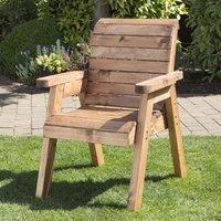 Traditional Scandinavian Redwood Garden Chair