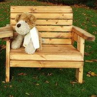 Little Fellas Redwood Kids Bench & Chair Combination Garden Furniture