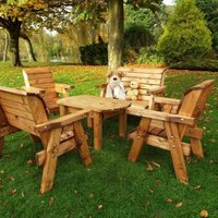 Charles Taylor Little Fellas 6 Seat Redwood Childrens Deluxe Garden Furniture Set