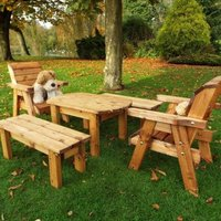 Little Fellas 6 Seat Redwood Kids Garden Form Furniture