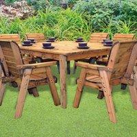 8 Seat Deluxe Chair Scandinavian Redwood Square Garden Furniture