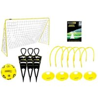 Kickmaster Ultimate Football Challenge Set Black & Yellow