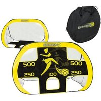 Kickmaster Quick Up Goal & Target Shot Black & Yellow
