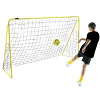 Kickmaster Premier 8ft Goal & Netting Yellow Frame