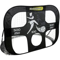 Kickmaster Quick Up Large Goal & Target Shot Black