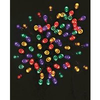 100 LED Multicolour 9.9m String Indoor & Outdoor Christmas Lights
