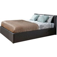 Winston Side Lift King Size Ottoman Bed Grey