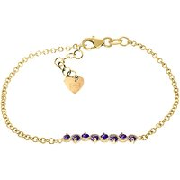 Amethyst Adjustable Bracelet 1.55 ctw in 9ct Gold