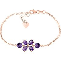 Amethyst Adjustable Bracelet 3.15 ctw in 9ct Rose Gold