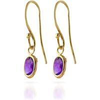 Amethyst Allure Drop Earrings 1 Ctw In 9ct Gold