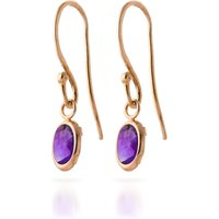Amethyst Allure Drop Earrings 1 Ctw In 9ct Rose Gold