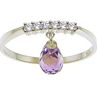 Amethyst & Diamond Band in 9ct White Gold - Band Gifts
