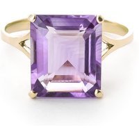Amethyst Auroral Ring 6.5 Ct In 18ct Gold