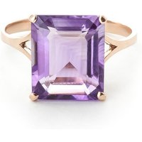 Amethyst Auroral Ring 6.5 Ct In 18ct Rose Gold