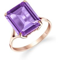 Amethyst Auroral Ring 6.5 Ct In 9ct Rose Gold
