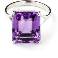 Amethyst Auroral Ring 6.5 Ct In Sterling Silver