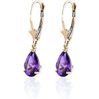 Amethyst Belle Drop Earrings 2.5 Ctw In 9ct Gold