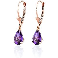 Amethyst Belle Drop Earrings 2.5 Ctw In 9ct Rose Gold