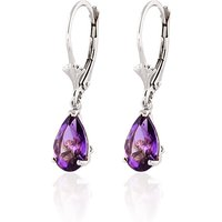 Amethyst Belle Drop Earrings 2.5 Ctw In 9ct White Gold