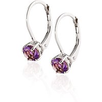 Amethyst Boston Drop Earrings 1.2 Ctw In 9ct White Gold