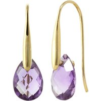 Amethyst Briolette Drop Earrings 6 Ctw In 9ct Gold