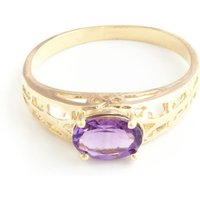 Amethyst Catalan Filigree Ring 1.15 Ct In 9ct Gold