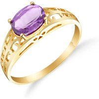 Amethyst Catalan Filigree Ring 1.15 Ct In 18ct Gold