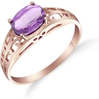 Amethyst Catalan Filigree Ring 1.15 Ct In 18ct Rose Gold