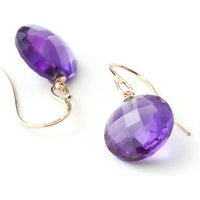 Amethyst Chequer Drop Earrings 12 Ctw In 9ct Rose Gold