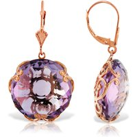 Amethyst Chequer Earrings 36 Ctw In 9ct Rose Gold