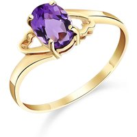 Amethyst Classic Desire Ring 0.75 Ct In 18ct Gold
