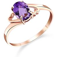 Amethyst Classic Desire Ring 0.75 Ct In 9ct Rose Gold