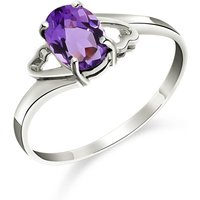 Amethyst Classic Desire Ring 0.75 Ct In 18ct White Gold