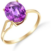 Amethyst Claw Set Ring 2.2 Ct In 9ct Gold