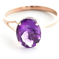 Amethyst Claw Set Ring 2.2 Ct In 18ct Rose Gold