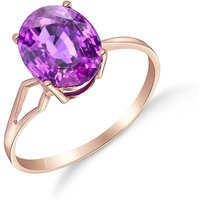 Amethyst Claw Set Ring 2.2 Ct In 9ct Rose Gold
