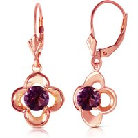 Amethyst Corona Drop Earrings 1.1 Ctw In 9ct Rose Gold