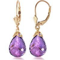 Amethyst Crown Drop Earrings 14 Ctw In 9ct Gold